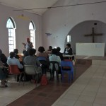Imbokodo - women, who are not mebers of the young addult league nor the women's league, meeting in the old church of Christianenburg after the service.